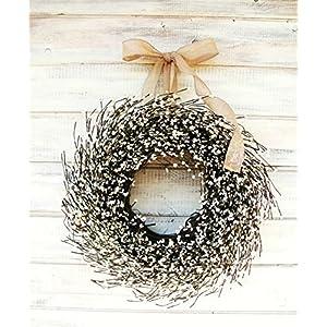 Farmhouse Wreath, Fall Wreath, Winter Wreath, Summer Wreath, Farmhouse Decor, White Wreath, Antique White Wreath,Year Round Wreath, Wedding Décor, Christmas Wreath, Housewarming Gift, Home Decor 43