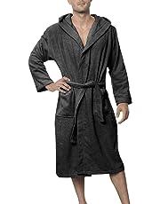 534b1fa3e8 Twinzen Men s Bathrobe (XS to XL) - Luxury 100% Cotton Bathrobes