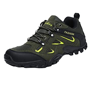LuckyGirls Zapatos para Hombre Zapatillas de Senderismo Malla Casual Calzado de Deporte Planos Transpirables Bambas: Amazon.es: Deportes y aire libre