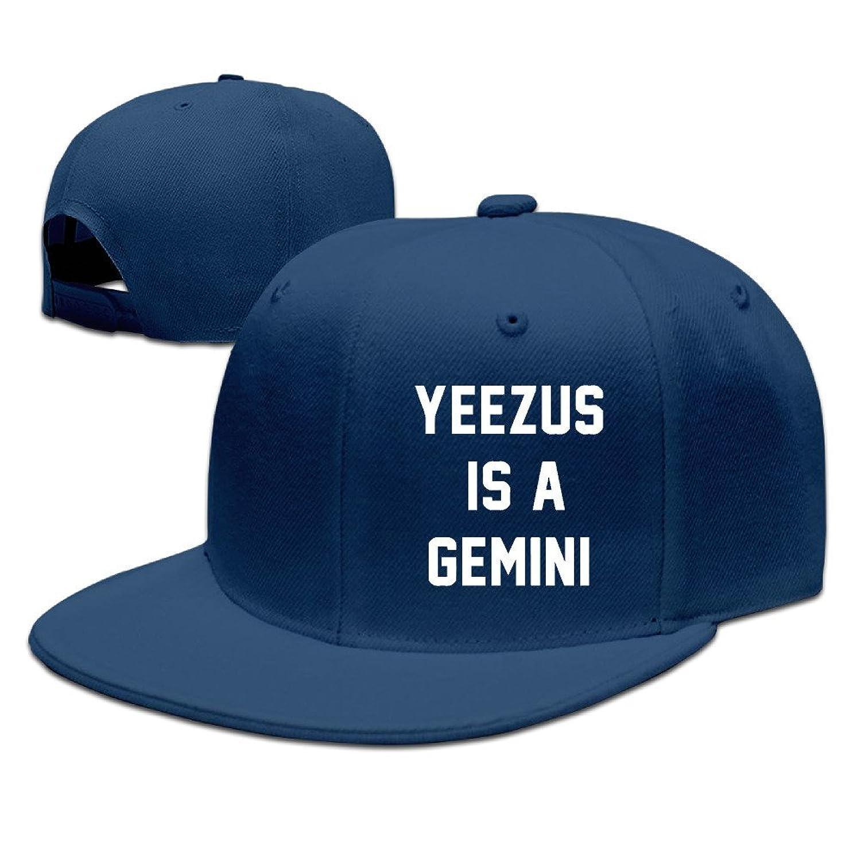 HNN Unisex Yeezus Is A Gemini Flat Baseball Caps Hats
