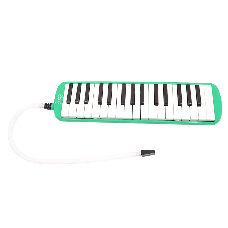 SHUTAO Glarry 32-Key Melodica Mouthpiece & Hose & Bag Green