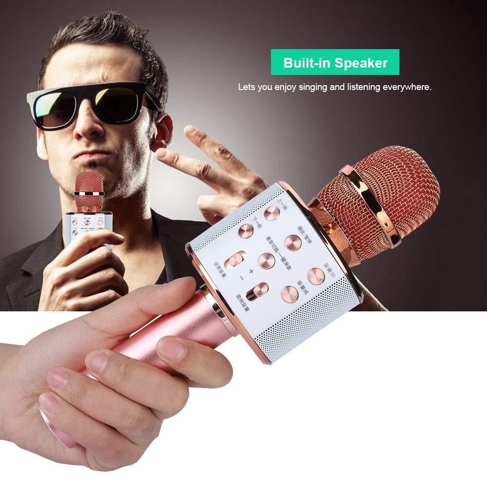 ASHATA Karaoke Machine,Stereo Surrounding Sound Karaoke Bluetooth Microphone with Speaker Stereo Surrounding Sound Support U Disk/TF Card,Wireless Karaoke Microphone MIC with Long Play Time by ASHATA (Image #4)
