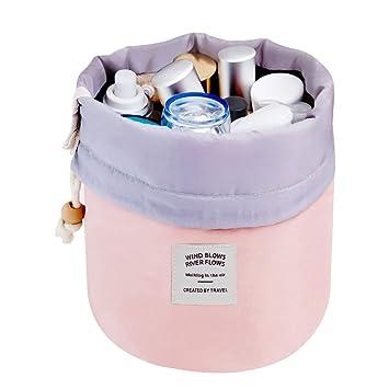 827ce8476d Mermaid Travel Cosmetic Bag Travel Makeup Bag Organizer Women Girls Barrel  Shaped Hanging Toiletry Wash Bags