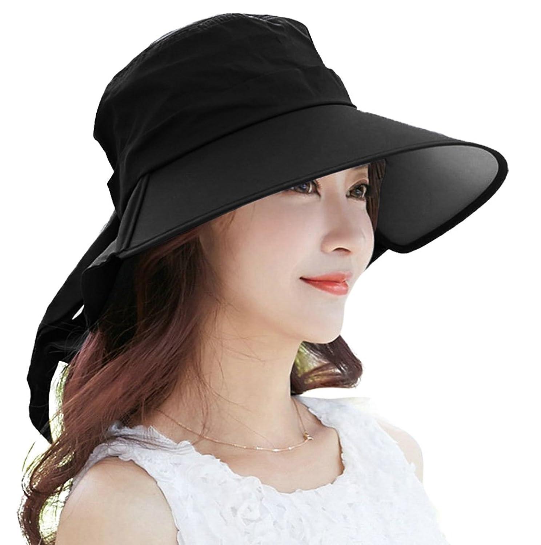 49dd11a62ed Womens sun hat hindawi summer wide brim uv protection jpg 1488x1500 Wide  brim ponytail hat
