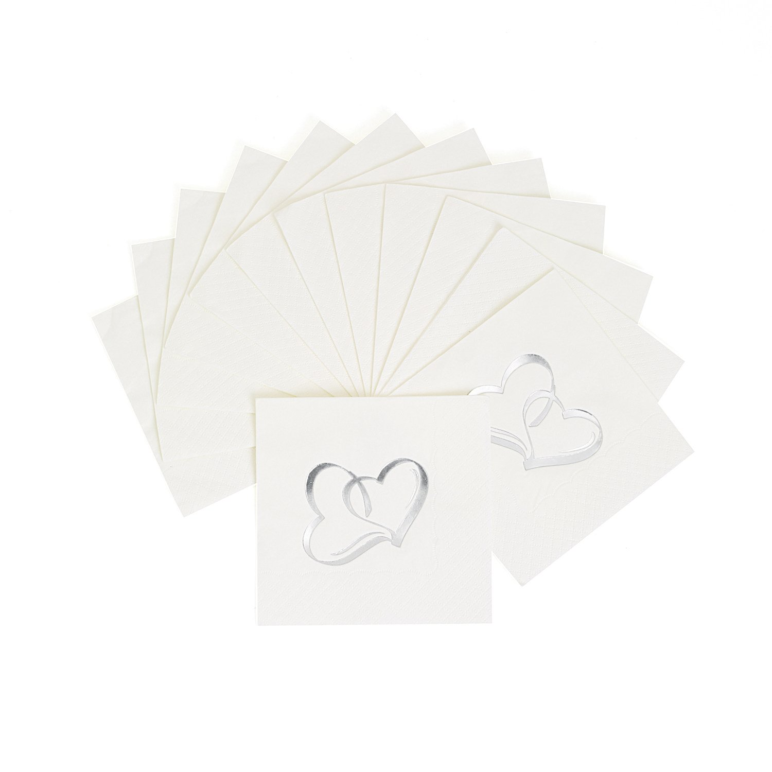 Two Hearts Cocktail Napkins (50 pc) by Fun Express