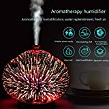 3D Glass LED Night Lights Essential Oils Aroma Diffuser...
