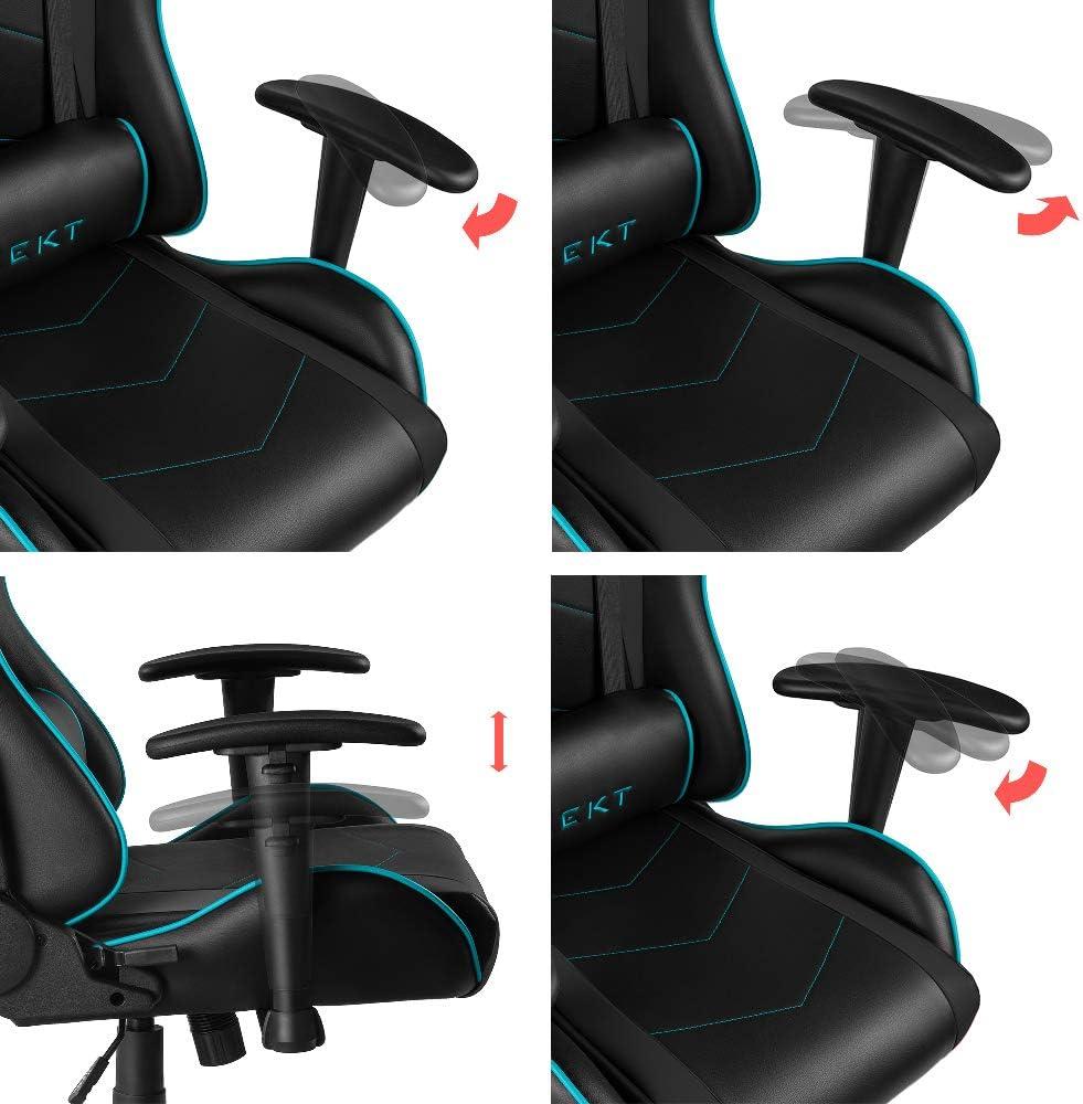 REKT BG5 Bleu - Chaise Gaming + Simili Cuir/Matériaux Haute
