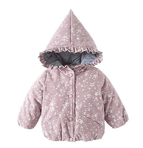 Niños abrigos, chaquetas de niños Grils tirador con capucha chaqueta de invierno cálido de ropa