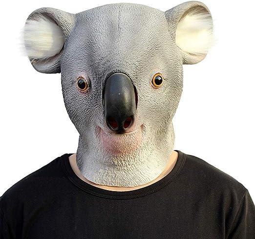 Soulitem Espeluznante Látex Koala Novedad Disfraz de Halloween ...