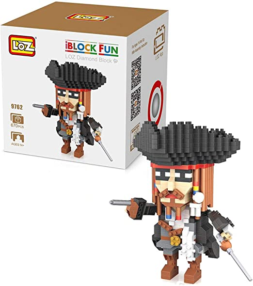 Outletdelocio. LOZ 9762. Kit de construccion miniaturizada. Jack Sparrow. 670 Piezas: Amazon.es: Juguetes y juegos