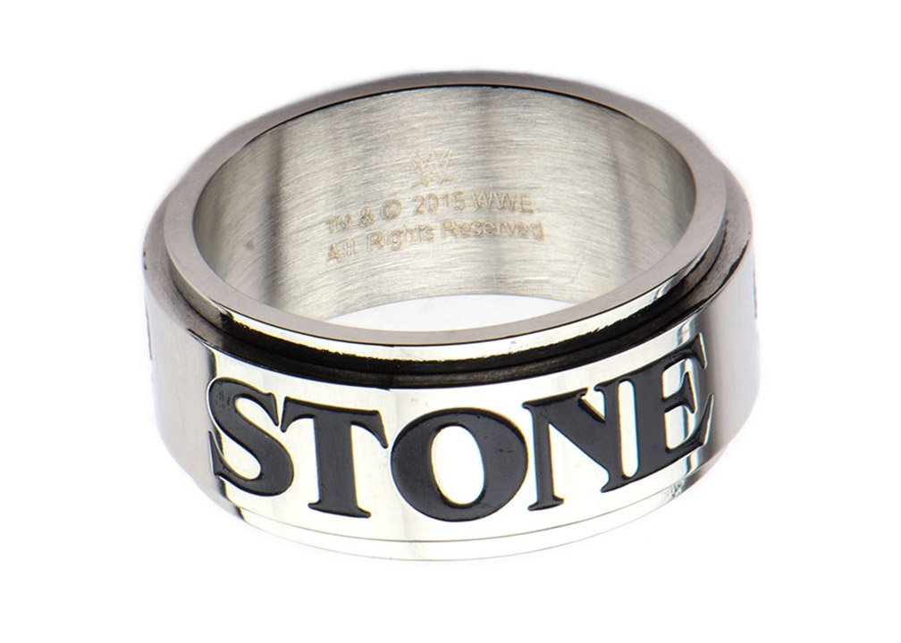 WWE Stone Cold Steve Austin Men's Stainless Steel Spinner Ring (Size 10)