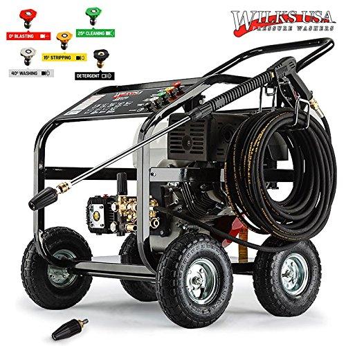 Wilks Genuine USA TX850 Petrol Pressure Washer - 15HP 4800PSI/331Bar