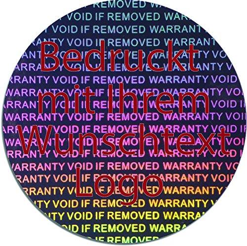 EtikettenWorld BV, EW-H-3000-SI-tr-700, EW-H-3000-SI-tr-700, EW-H-3000-SI-tr-700, 700 Stück Hologrammaufkleber, 2D, 40mm rund silberfarbige Metallfolie, bedruckt in rot mit Ihrem Wunschtext Logo, Hologramm Etiketten, selbstklebend, Hologramm Aufkleber, Sicherheitssiegel, Garantiesiegel, Gara aed6dd