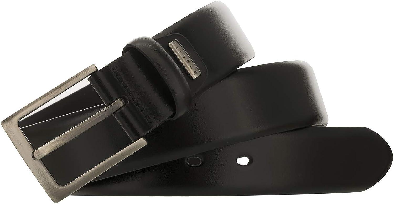 Cintura in pelle da uomo colore: nero Bugatti 8399