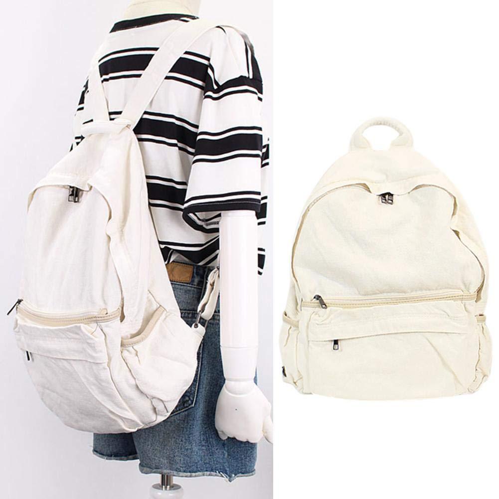 Alian Fashionable Backpack, Women Men Casual Backpack Canvas Denim College School Backpack Equipment Travel Bag Large Backpack by Alian (Image #2)