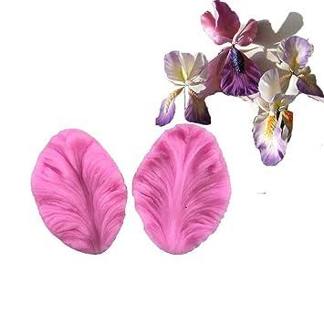 ENCOCO Molde de silicona para pasteles, diseño de flores y pétalos, hecho a mano