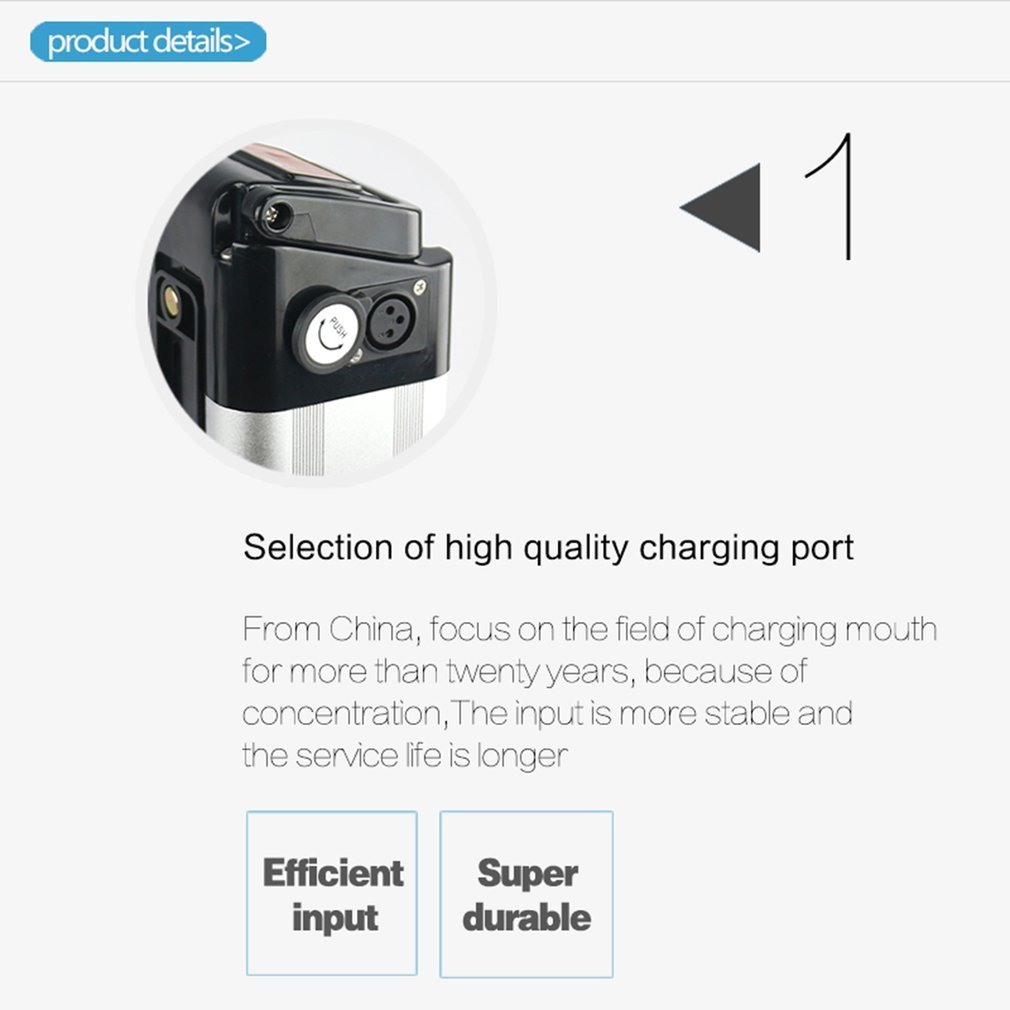 Nexttechnology Electric Bike Battery High Efficient Replacement Lithium Ebike Battery Pack for Electric Bike Bicycle Mountain Bikes