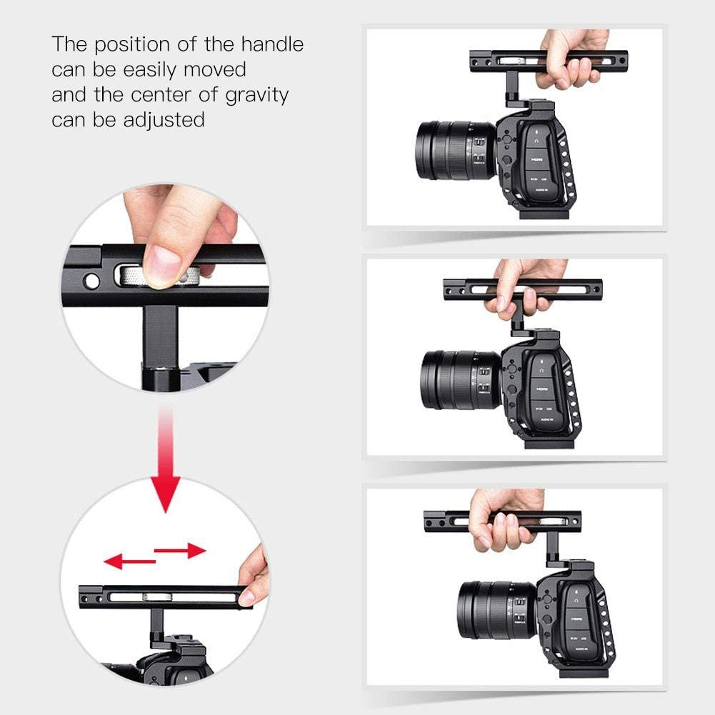 Portable Professional Stabilizer Kit with 1//4 3//8 Screws Holes Compatible with Monitors Mugast Aluminum Alloy Camera Cage Microphones Lights etc