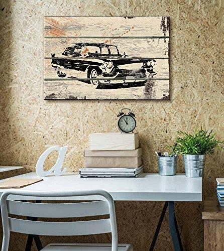Classic Car Pontiac Cadillac Artwork Rustic