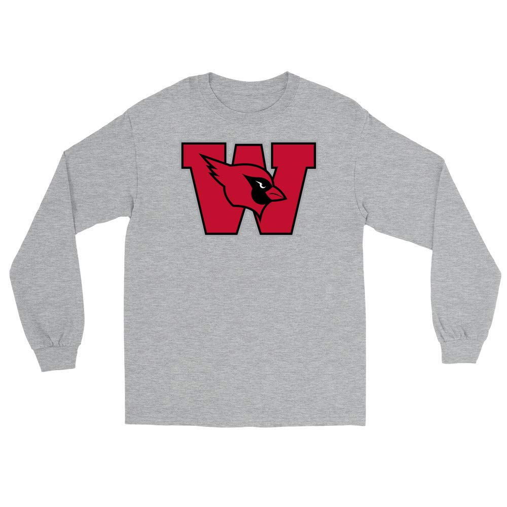 PPWEU003 Mens//Womens Boyfriend Long Sleeve Tee Official NCAA Wesleyan University