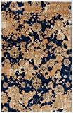 Antep Rugs ORIENTAL Collection KAYI Floral Polypropylene Area Rug (NAVY/IVORY, 8′ X 10′) Review