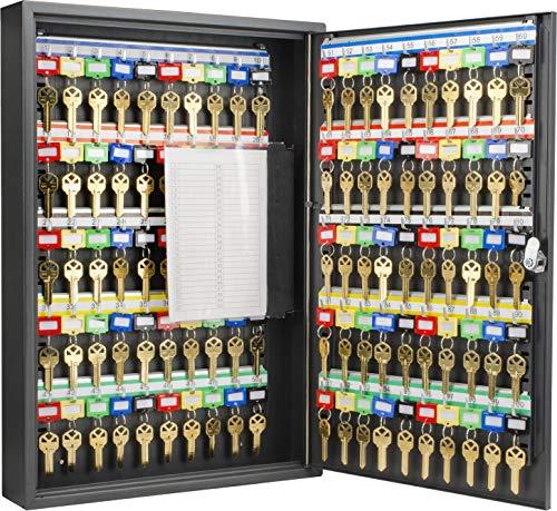 100 Key Cabinet - Barska Steel 100 Key Safe Cabinet with Combination and Key Lock Box
