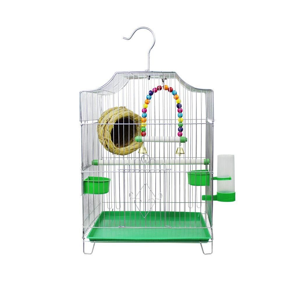 Zxb-shop Bird Nest Bird Cage Parrot and Other Small Bird Villa High Temperature Spray Paint Treatment Silver Color Bird Cage 323144CM Bird House Bulk by Zxb-shop