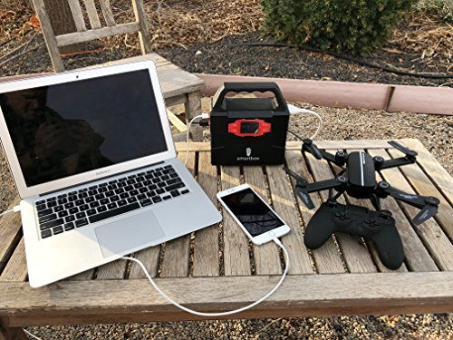Smartbox Powerful Solar Generator –Portable Power Charging Station With Multiple USB & AC Outlets–100-Watt Emergency Solar Battery Charger With Ultra-Bright LED Light For Outdoor Activities by Smart Box (Image #5)