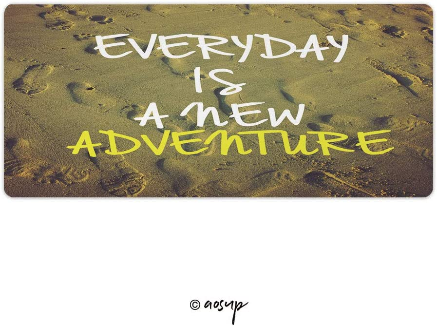 PC 35.4 x 15.7 inch NO-73185 Homenon Thin Gaming Mouse Pad Inspirational Motivation Quote Everyday is A New Adventure On N Large Thick Extended Mouse Mat Desk Pad for Keyboard