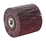 Non-Woven Aluminum Oxide Mounted Flap Wheel, Straight Shank Type, 4-1/8''