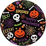 Spooktacular Halloween Gang Disposable Round Luncheon Paper Plates, 9'' Pack of 60.