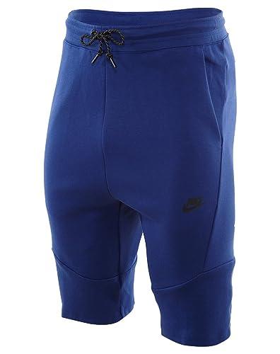 Amazon.com: Men's Nike Tech Fleece 2.0 Shorts (727357-455) - DEEP ROYAL BLUE /BLACK: Sports & Outdoors