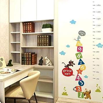 Lk /_ Enfants Hauteur Toise Mesure Autocollant Mural Chambre D/'Enfants Animal E