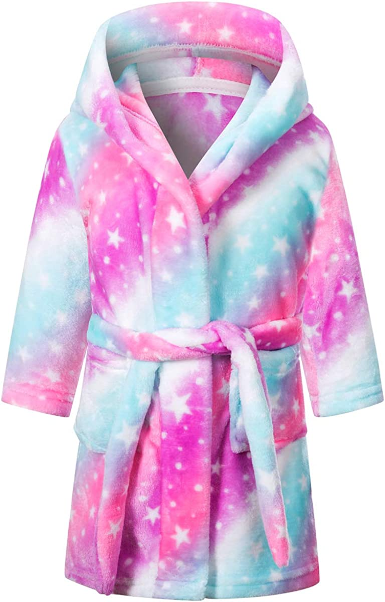 Betusline Girls Soft Bath Robe, 12 Months - 18 Years