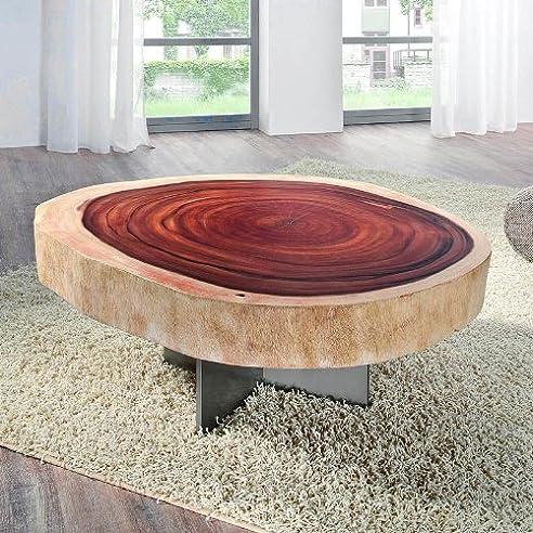 Design   Couchtisch »FOREST« Aus Massiver Akazien Baumscheibe