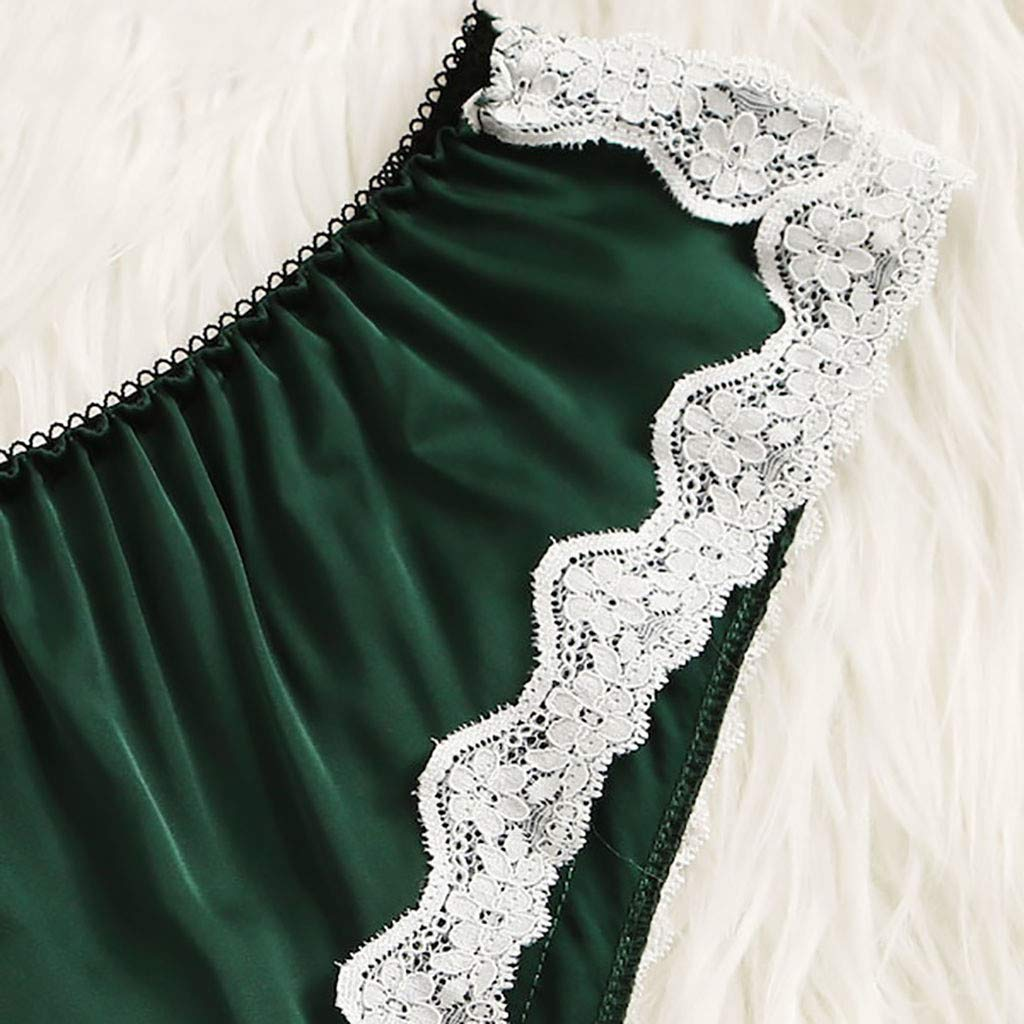 Women's Lace Lingerie Corset Racy Muslin Underwire Hollowed Sleepwear Set S-XL (Green, M) by Aurorax Underwear (Image #5)