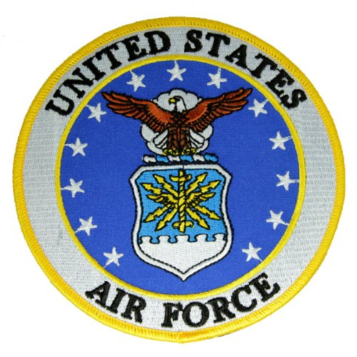 Embroidered Air Force Logo Patch 5 inches (Air Force Patch)