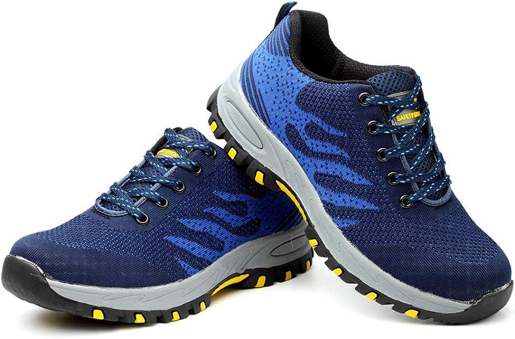Suelas centrales de Kevlar Zapatos de Seguridad con Puntera de Acero Deportivo Antideslizante Ocio y C/ómodo para Trabajo LXHK Calzado de Protecci/ón