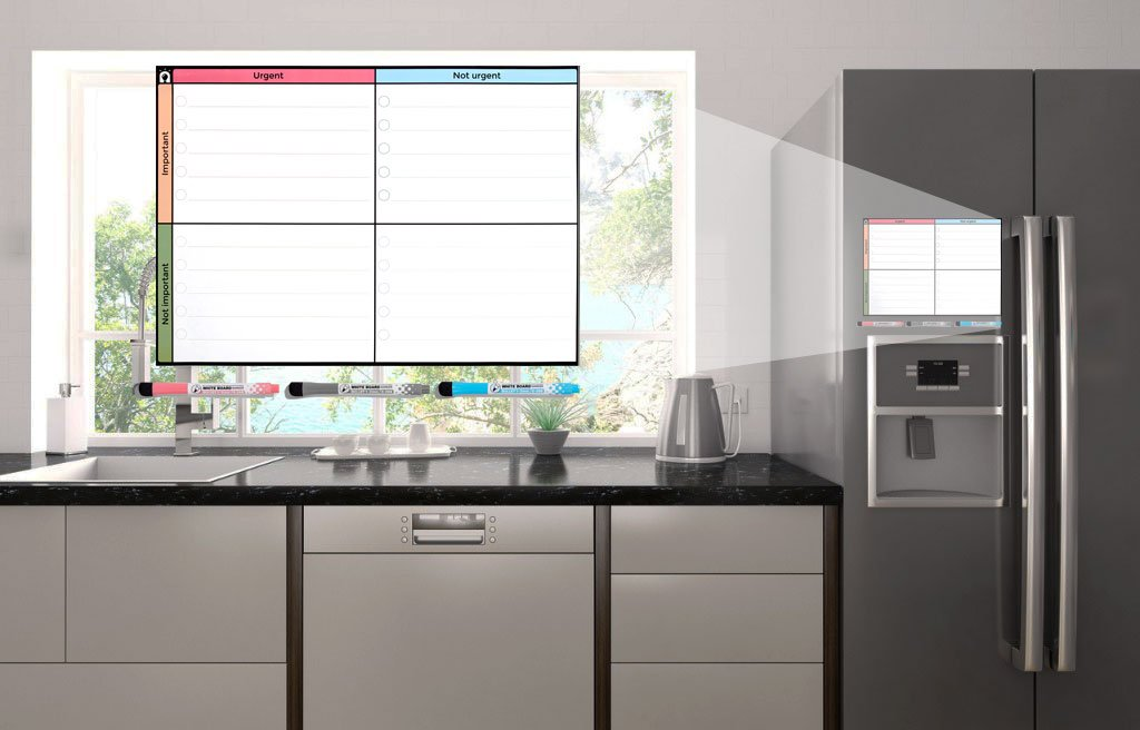 Kühlschrank Planer A3 : A magnetische abwischbarer to do liste planer magnettafel für