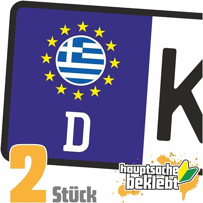 Griechenland Kennzeichen Aufkleber Sticker Nummernschild Land Country Nation Auto