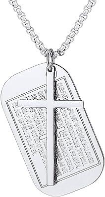 collier plaque gravure homme