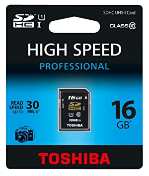 Toshiba 16GB SDHC - Tarjeta de Memoria SDHC de 16 GB (Class 10, UHS I, 30 MB/s), Negro