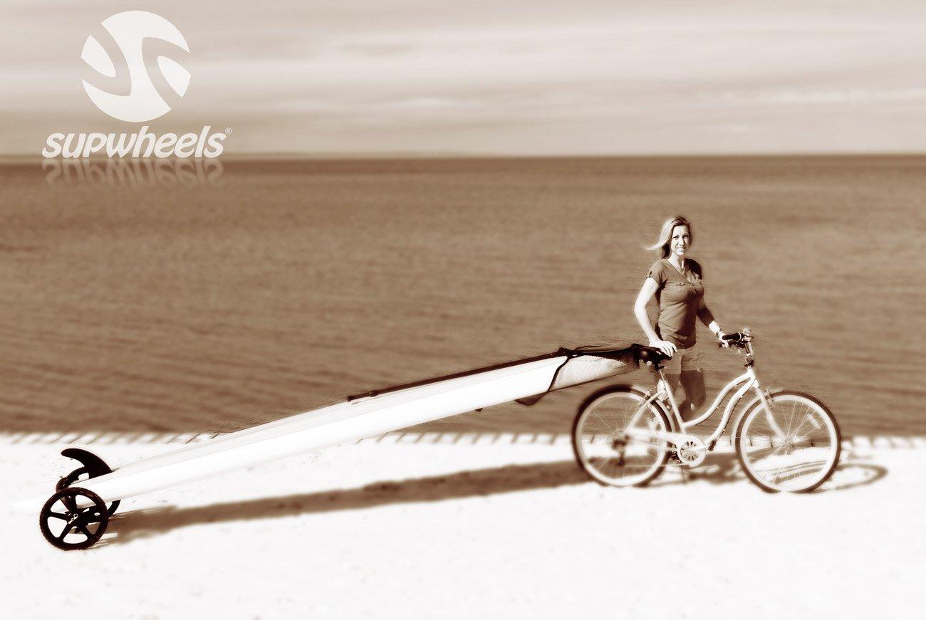 SUP Wheels® Evolution Portador de Sup con Strap para Bicicleta: Amazon.es: Deportes y aire libre