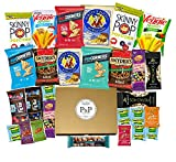 Healthy NON-GMO Snack Box (28 CT). Healthy Care Package: Chips, Cookies, Snack Bars, Fruit Snacks, Nuts, Popcorn Gift Box. Great for Offices, College Student (Dorm), Military, and Family Gift Basket.