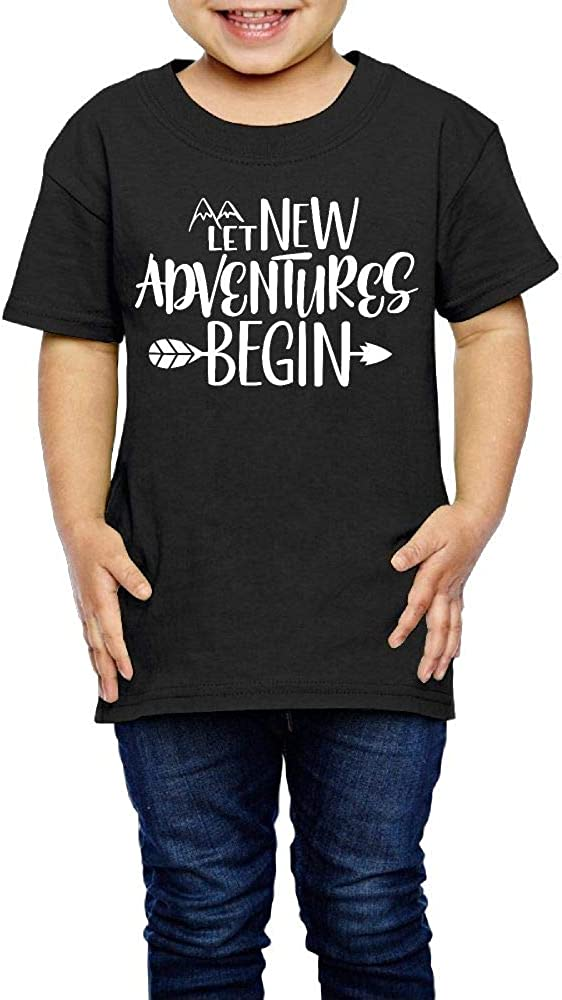 2-6 Years Old Kcloer24 Let New Adventure Begin Children Organic T-Shirt Graphic Tee