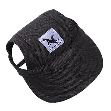 Aquiver Baseball Cap Summer Canvas Puppy Small Pet Dog Cat Visor Hat  Outdoor Sunbonnet by (Black 95cb7168d72c
