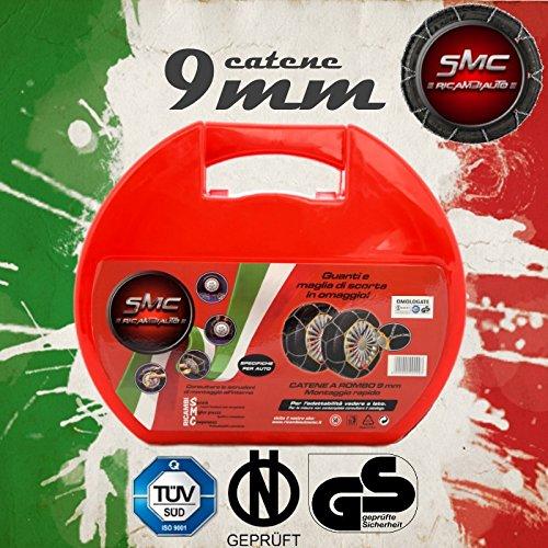 SMC Catene da Neve OMOLOGATE 9mm per Pneumatici 205 55 R 16 Gruppo 90
