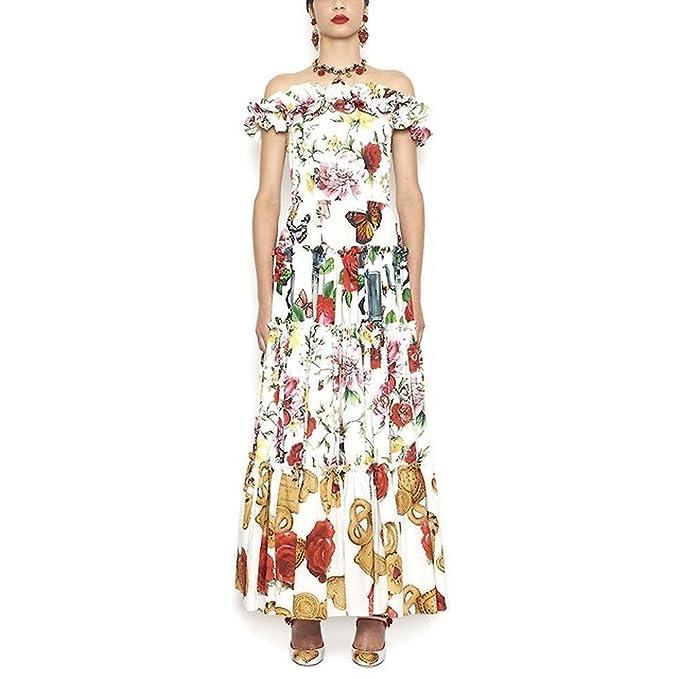 Dolce   Gabbana - Vestito - Donna bianco Dimensioni Marca 48  Amazon ... 275a623aa3d