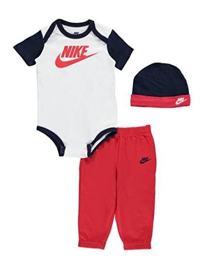 Nike Baby Boys 3 Piece Layette Set University Red 6 9 Months