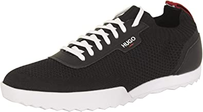 Black Low-Top Trainers Sneakers Shoes